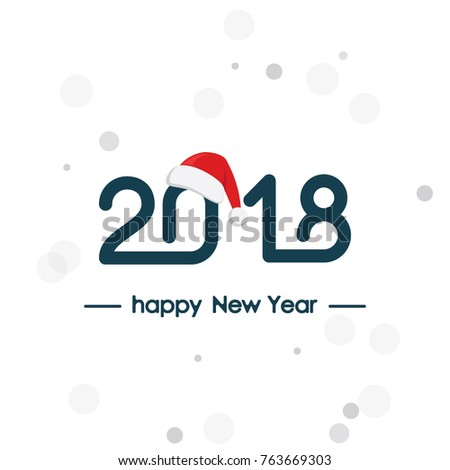 Happy new year 2018 text lettering stock vector 707065444 - Text banner design ...