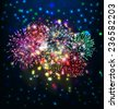 happy new year with firework - stock vector