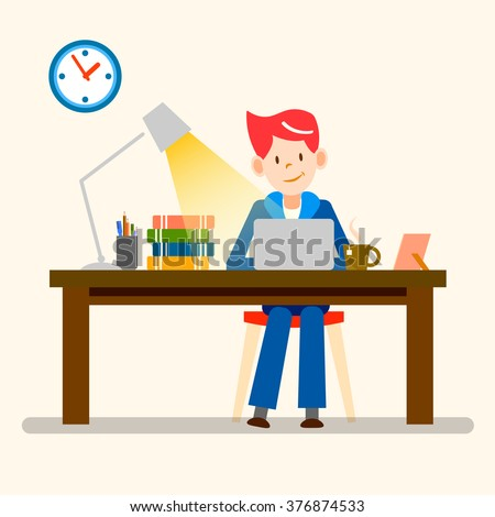 Businessman Signing Business Documents Office Man Stock Vector 573417898 Shutterstock