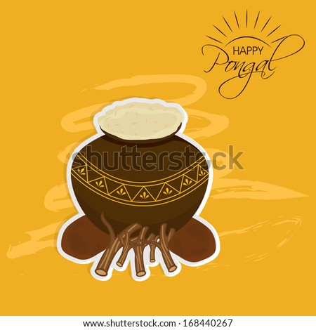 Happy Pongal, harvest festival celebration in South India with pongal ...