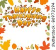 Happy Thanksgiving Day card. - stock vector