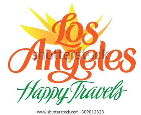 Happy Travel Series Los Angeles Hand Lettering