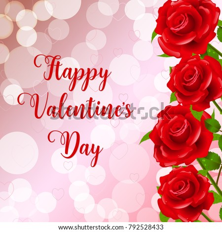 Happy Valentines Day Greeting Card Pink Stock Vector 793626349 ...