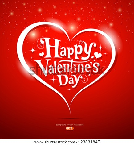 Happy Valentines Day Lettering Greeting Card Vector – Happy Valentines Day Greeting Cards