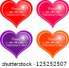 Happy Valentine's Day! Set of hearts isolated on White background. Vector illustration - stock vector