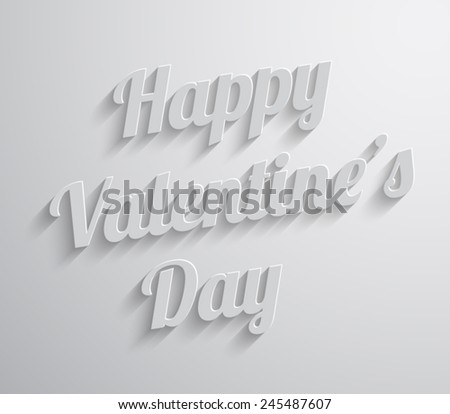 Happy Valentines Day abstract background with long shadow text. Vector illustration eps 10