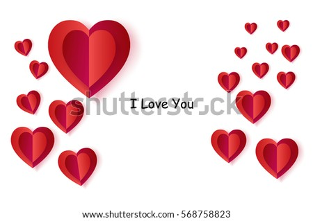 happy valentines day greeting card vector template i love you text romantic poster with