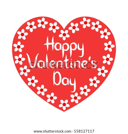 Happy Valentines Day Greeting Cards. Vector Icon.