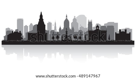 Hartford Connecticut city skyline vector silhouette illustration