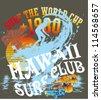 hawaii surf club - stock photo