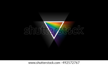 HD widescreen 16:9 wallpaper with prism like triangle