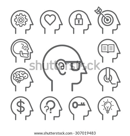 Human Brain Diagram Doodles Icons Style 386406700