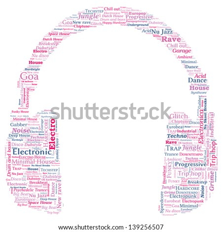 Note Shaped Word Cloud Music Concept Stock Vector 193813991 ...