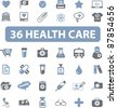 health care icons set, vector - stock vector