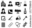 Healthcare and medical related icon set - stock vector