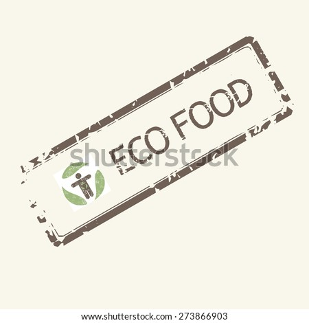 Healthy food vintage vector stamp