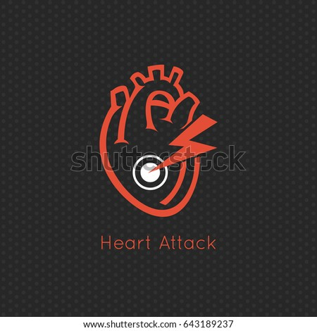 Common heart attack warning signs vector stock vector for Design attack