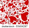 heart background - stock vector