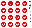 Heart Icon Set - stock vector