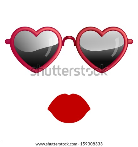 Heart shaped lips Stock Photos, Images, & Pictures ...