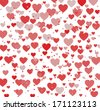 Hearts texture background - stock vector