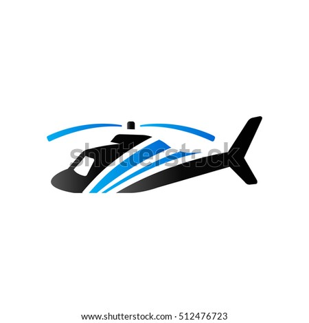 Helicopter icon in duo tone color. Transportation air aviation