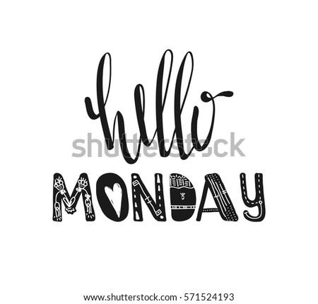 Hello Friday Words Vector Typography Design Stock Vector 518186749 - Shutters...