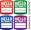 Hello Name Tag - Vector - stock vector