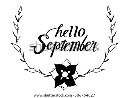 Hello September Greeting Card Witn Wonderful Image