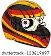 helmet skull and Germany flag - stock
