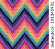 Herringbone Pattern in bright colors repeats seamlessly. Colors are grouped for easy editing. - stock vector