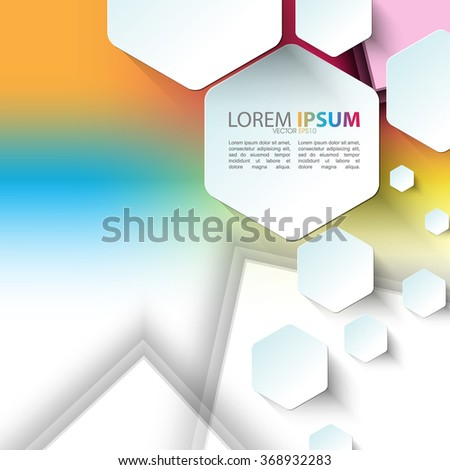 hexagon shapes elements technology background