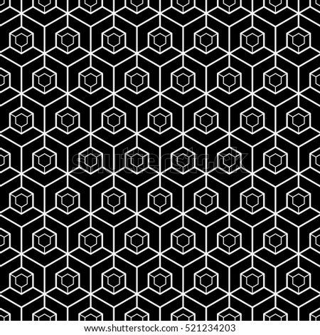 Hexagonal grid design,Vector pattern.