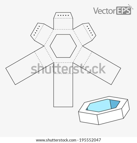 Package printing in addition Stock Photo Small Pyramid Box With Die Cut Template in addition Activities besides 191895634096924888 moreover s. on layout for hexagonal box