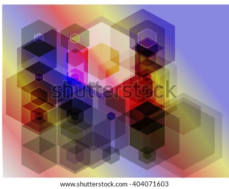 hexagons abstract bright colorful background