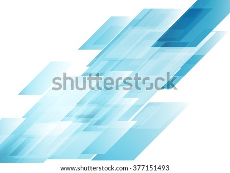 Hi-tech blue shapes abstract background. Vector graphic geometric design