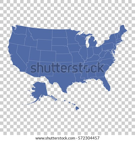 United States Map Stock Vector Shutterstock - Usa map states