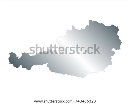 Austria world map country outline graphic vectores en stock high detailed silver map of austria isolated on white background editable vector illustration gumiabroncs Images