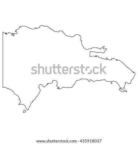 Vector Map Dominican Republic Stock Vector Shutterstock - Dominican republic map vector
