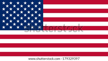 High detailed vector flag of United States