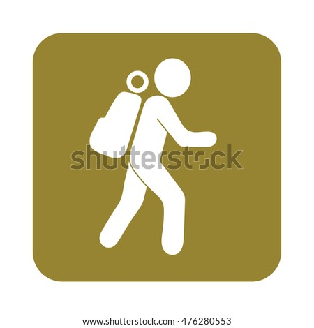 hiking icon illustration isolated vector sign stock vector
