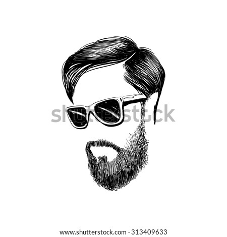 Fashion Silhouette Hipster Style Vector Illustration Stock Vector 189614978 Shutterstock