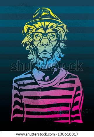 Hipster Lion Gradient