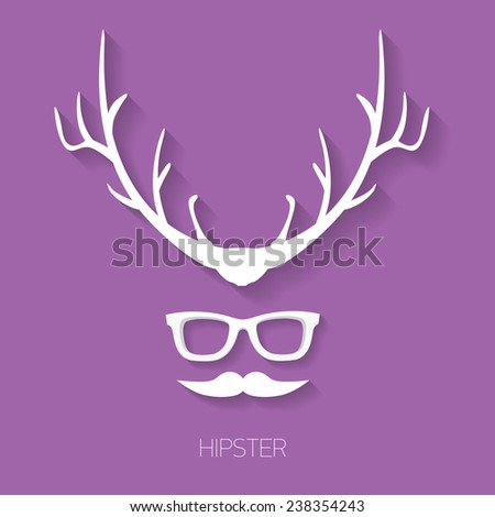 Moose Headwatercolor Silhouette Stock Vector 259251347 Shutterstock