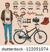 Hipster vector elements. - stock vector