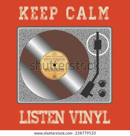 Vinyl Disc Hipster Quote Stock Vector 228781078 Shutterstock