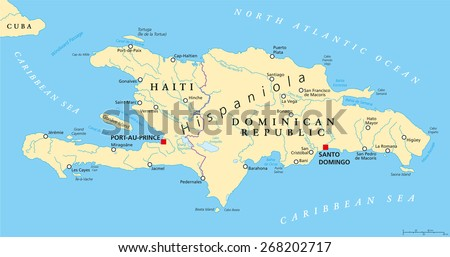 Jamaica Political Map Capital Kingston Important Stock Vector - Jamaica cities map