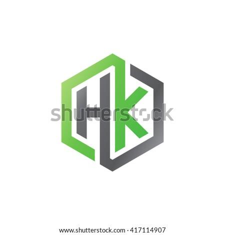initial letter logo kh hk h stock vector 573266068 - shutterstock
