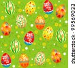 Holiday Easter seamless pattern - stock vector