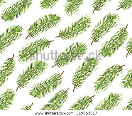 Holiday pattern. Christmas decoration. Christmas tree. Seamless background. Vector Illustration.
